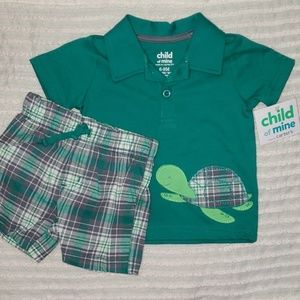 Carter's   Polo & Shorts 2- piece   Size 6-9 month